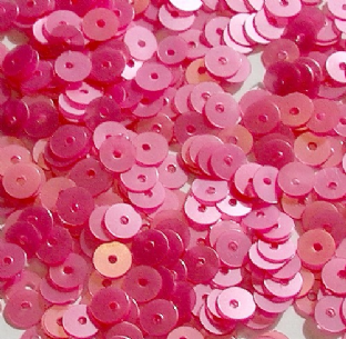 DISCONTINUED COLOUR 4mm Satin Pink Flat Round Sequins x 10g